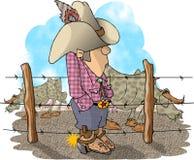 De Eigenaar van een ranch van het vee royalty-vrije illustratie