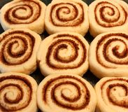 De eigengemaakte Broodjes van de Kaneel Stock Afbeeldingen