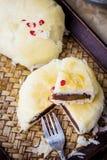 De eigengemaakte Cake van de Maan Stock Fotografie