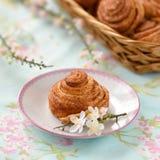 De eigengemaakte cakes van kaneelbroodjes Royalty-vrije Stock Afbeelding