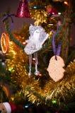 De eigengemaakte decoratie van de Kerstmisboom Stock Afbeeldingen