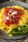 De eigengemaakte Gekookte Deegwaren van de Spaghettipompoen Royalty-vrije Stock Fotografie