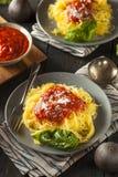 De eigengemaakte Gekookte Deegwaren van de Spaghettipompoen Royalty-vrije Stock Afbeelding