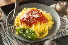 De eigengemaakte Gekookte Deegwaren van de Spaghettipompoen Stock Afbeeldingen