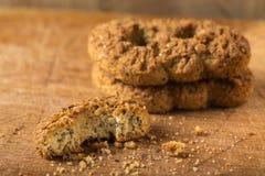 De eigengemaakte koekjes van de boekweitbloem met bruine suiker Stock Fotografie