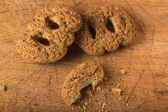 De eigengemaakte koekjes van de boekweitbloem met bruine suiker Stock Afbeeldingen