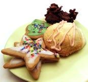De eigengemaakte koekjes van Kerstmis Royalty-vrije Stock Afbeeldingen