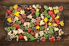 De eigengemaakte koekjes van Kerstmis Stock Fotografie