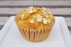 De eigengemaakte muffin van het pompoenhavermeel Stock Foto