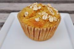 De eigengemaakte muffin van het pompoenhavermeel Stock Afbeelding