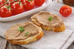 De eigengemaakte pastei van de kippenlever Stock Foto