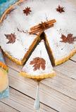 De eigengemaakte Pastei van de Pompoen Stock Afbeeldingen