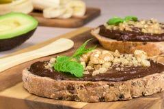 De eigengemaakte room van de nutellachocolade Royalty-vrije Stock Foto