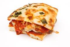 De eigengemaakte Sandwich van het Vleesballetje op Brood Focaccia Stock Fotografie