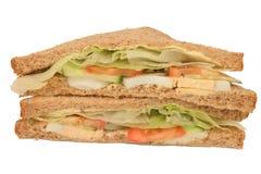 De eigengemaakte sandwiches van de eisalade stock foto's