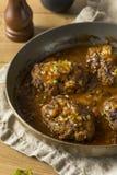 De eigengemaakte Smakelijke Lapjes vlees van Salisbury royalty-vrije stock foto