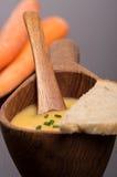De eigengemaakte soep van de veganistwortel Royalty-vrije Stock Afbeeldingen