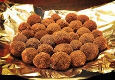 De eigengemaakte Truffels van de Chocolade Stock Afbeelding