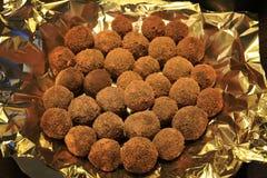 De eigengemaakte Truffels van de Chocolade Royalty-vrije Stock Afbeelding