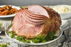 De eigengemaakte Verglaasde Pasen-Spiraal sneed Ham royalty-vrije stock foto