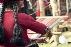 De eigengemaakte wol kleedt de industrie Stock Foto's