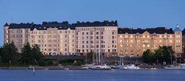 De eigenschappen van de waterkant in Helsinki Royalty-vrije Stock Foto's