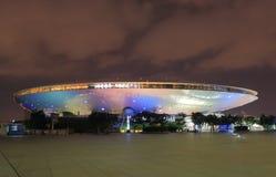 De eigentijdse architectuur Shanghai China van Mercedes Benz Arena Stock Foto's