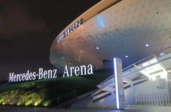 De eigentijdse architectuur Shanghai China van Mercedes Benz Arena Stock Afbeeldingen