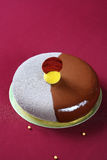 De eigentijdse Cake van de Chocolademousse Stock Foto's