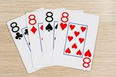 4 de eights buenos 8 - casino que juega tarjetas del póker fotos de archivo