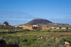 De Eilanden Spanje van La Oliva Fuerteventura Las Palmas Canary van de bergmening royalty-vrije stock afbeelding