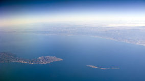 De Eilanden van Anacapa & van Sant Cruz, CA royalty-vrije stock foto