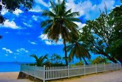 De Eilanden van Beau Vallon Beach - van Seychellen royalty-vrije stock afbeelding