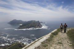 De Eilanden van Cies in Galicië, Spanje Stock Foto