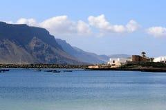 De Eilanden van Graciosa en Lanzarote royalty-vrije stock fotografie