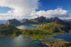 De eilanden van Lofoten Stock Afbeelding