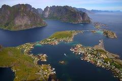De eilanden van Lofoten Royalty-vrije Stock Foto's