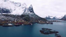 De Eilanden van Lofoten, Noorwegen stock videobeelden
