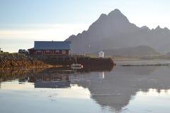 De Eilanden van Lofoten, Noorwegen Stock Fotografie