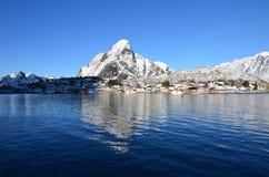 De Eilanden van Lofoten, Noorwegen royalty-vrije stock foto