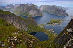 De eilanden van Lofoten, Noorwegen Stock Foto