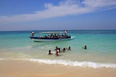 De eilanden van Rosario, Caraïbisch Colombia, Stock Foto's