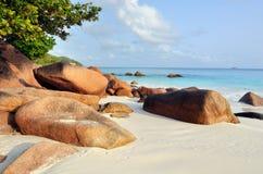 De eilanden van Seychellen Stock Afbeeldingen