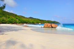 De eilanden van Seychellen, Praslin Royalty-vrije Stock Afbeelding