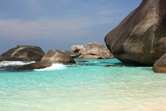 De eilanden van Similan, Thailand Stock Afbeeldingen