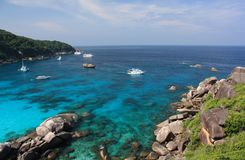 De eilanden van Similan, Thailand Royalty-vrije Stock Foto