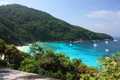 De eilanden van Similan, Thailand Stock Afbeelding
