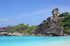 De eilanden van Similan, Thailand, Phuket Stock Afbeeldingen