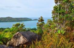 De eilandenlandschap van Seychellen Royalty-vrije Stock Foto's