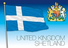 De eilandenvlag van Shetland, het Verenigd Koninkrijk vector illustratie